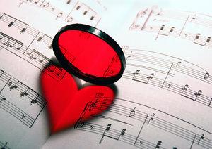 loupe qui forme un coeur
