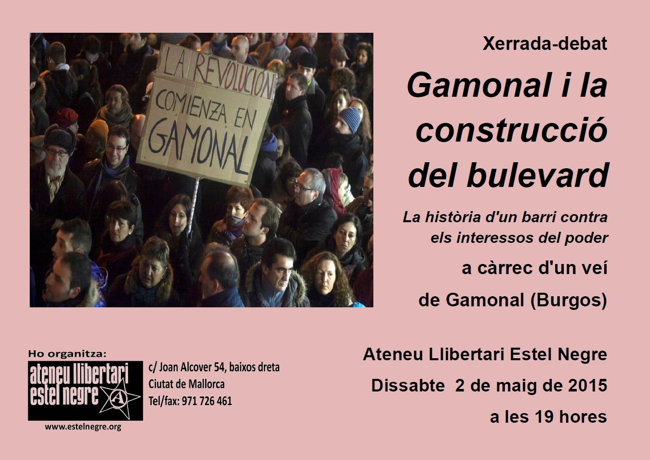 Xerrada-debat « Gamonal i la construcció del bulevard. La història d'un barri contra els interessos del poder» (02-05-15)