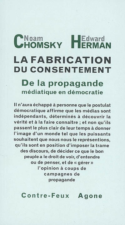 La fabrication du consentement - Noam Chomsky