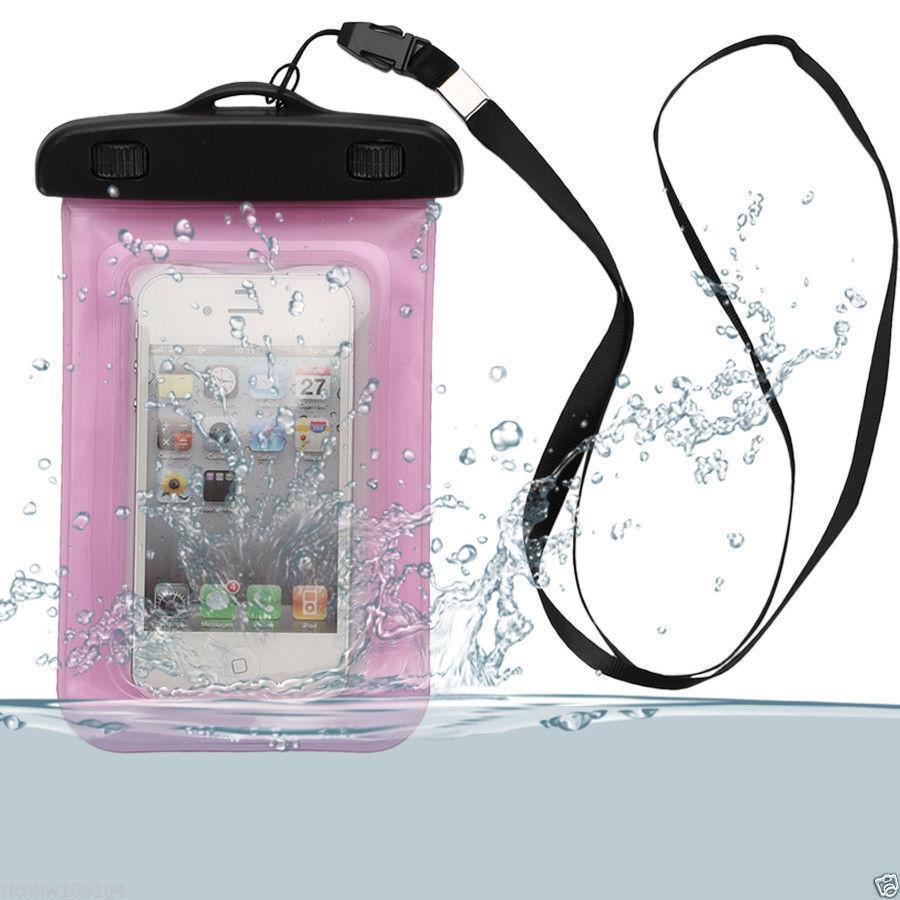 Coque etui housse etanche waterproof universel rose pour for Fenetre etanche a l eau