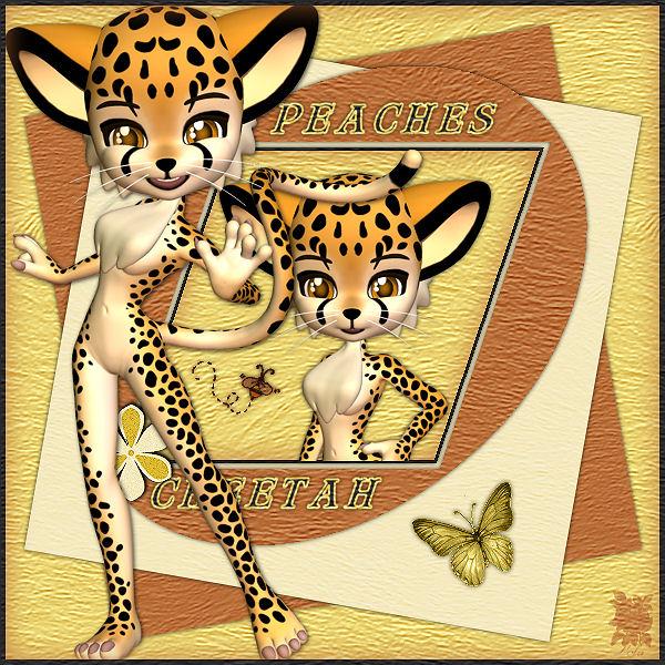 peaches cheetah
