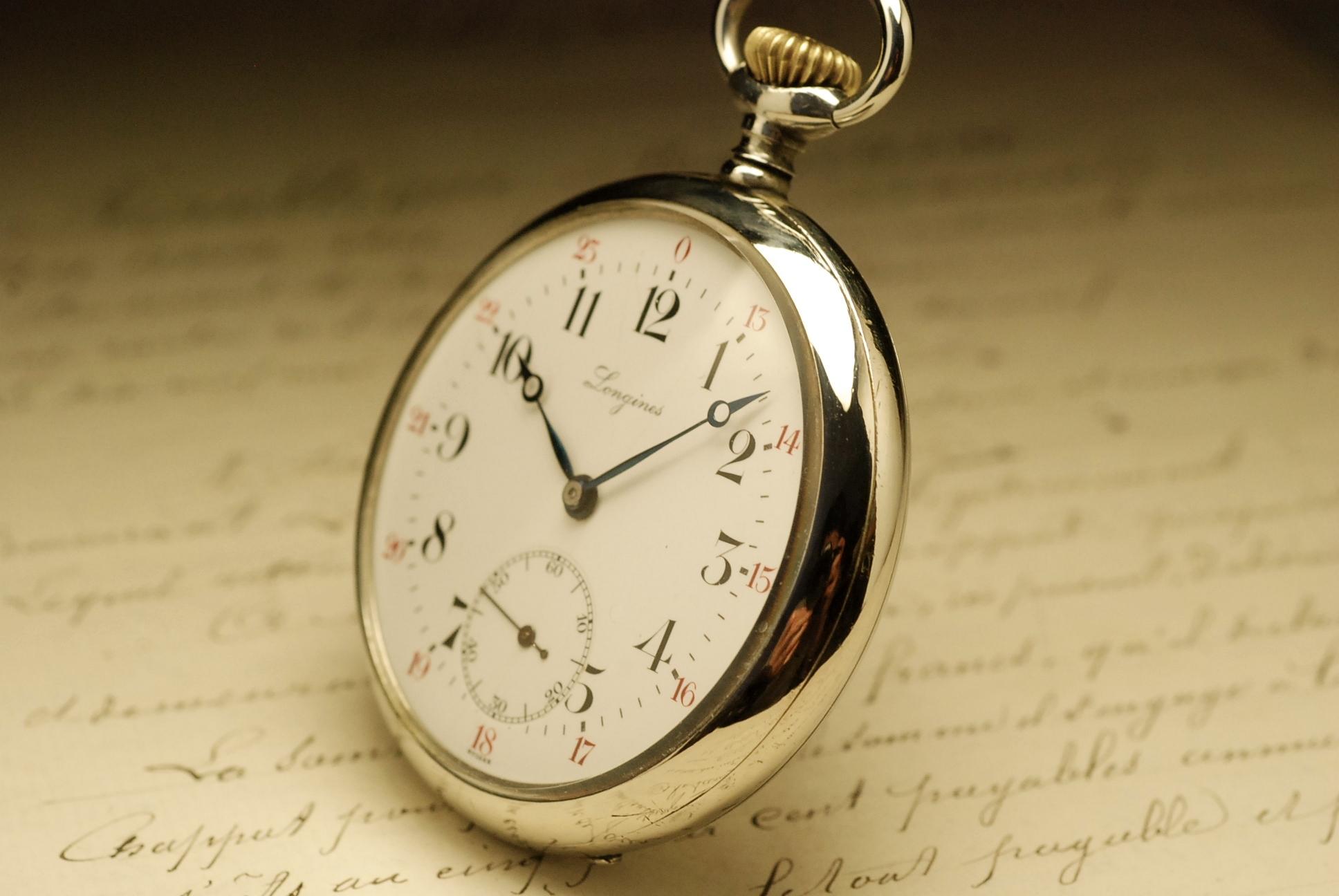 longines vintage pocket watch montre ancienne gousset 1910. Black Bedroom Furniture Sets. Home Design Ideas
