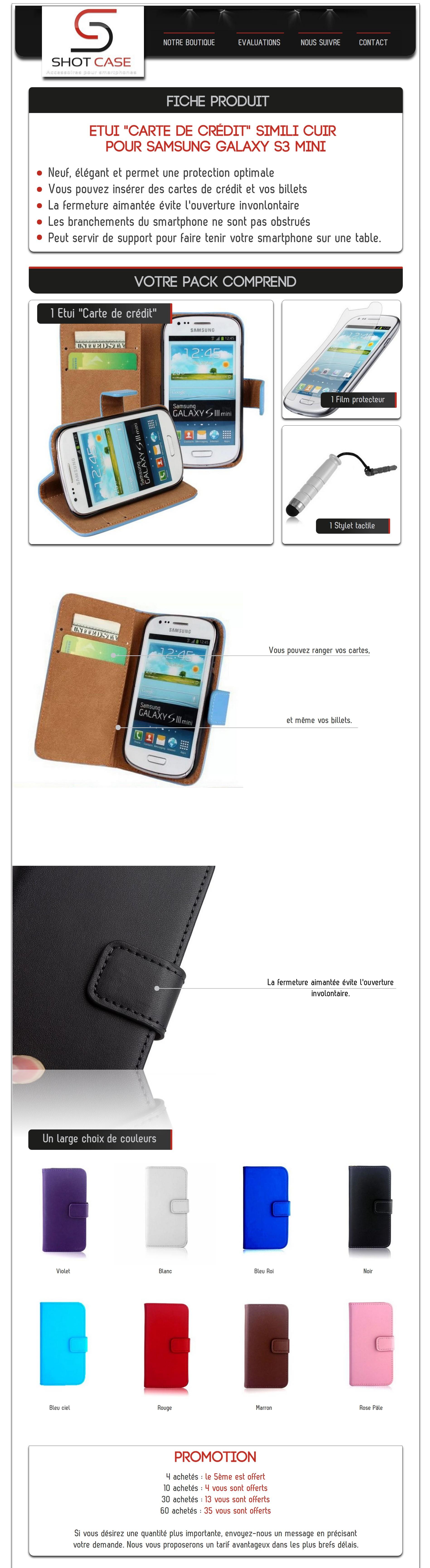 Etui Portefeuille S3 mini (annonce)