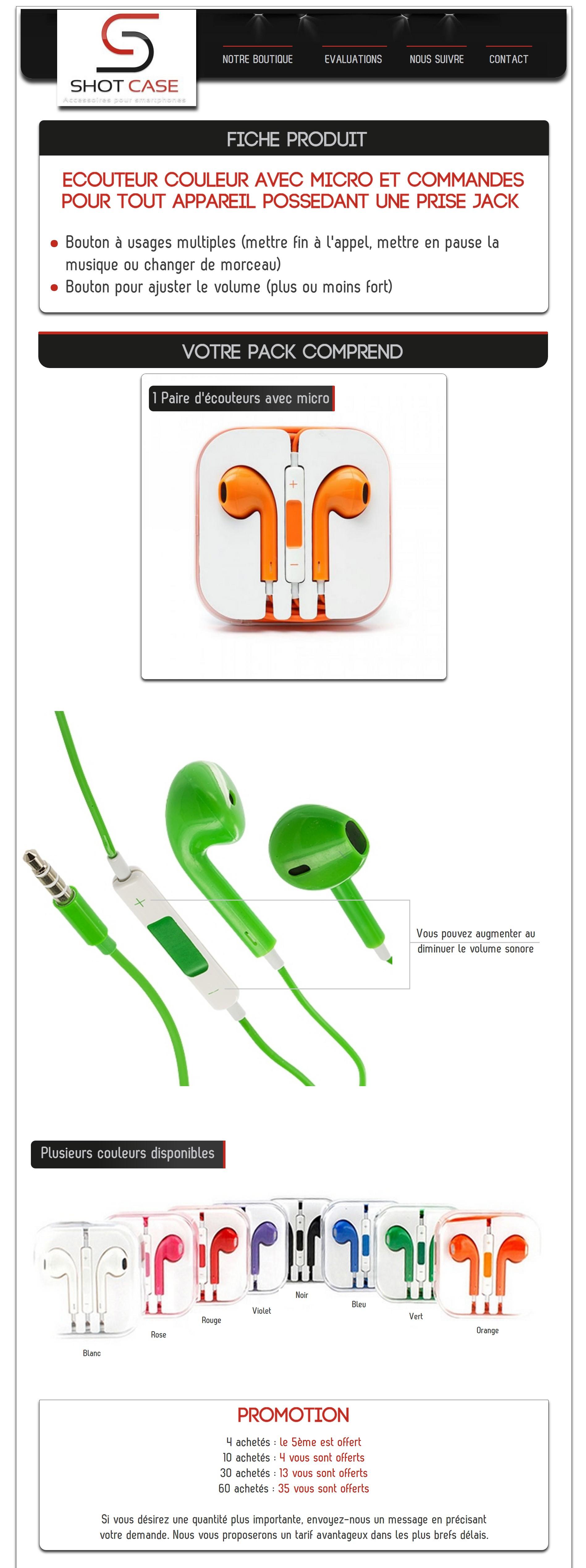 Ecouteurs apple 2.0 couleurs (annonce)