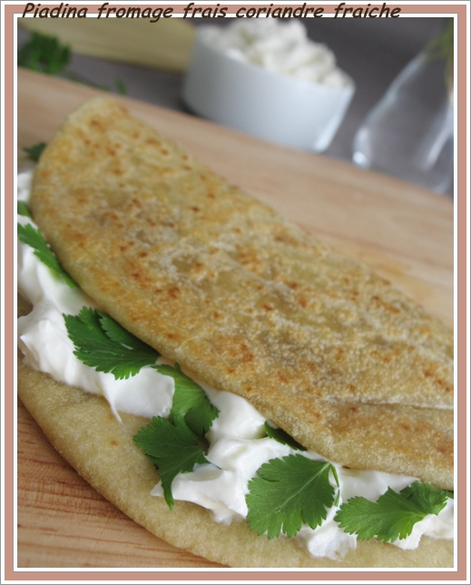 piadina fromage frais coriandre