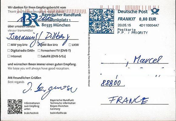 QSL de BR (Bayerischer Rundfunk) 150524094726822828