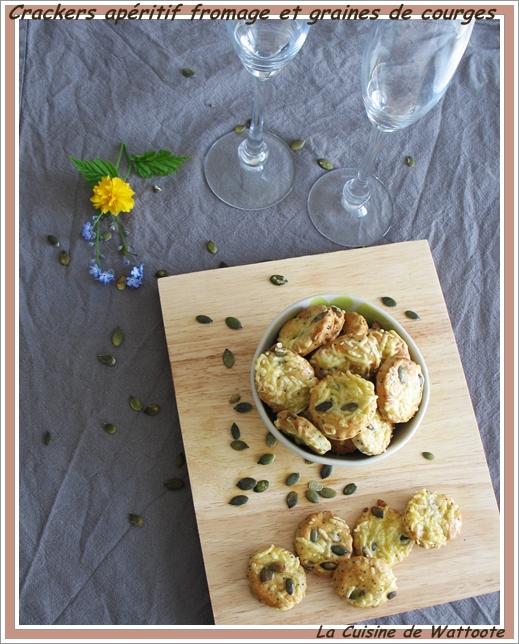 crackers apéritif fromage graine de courge