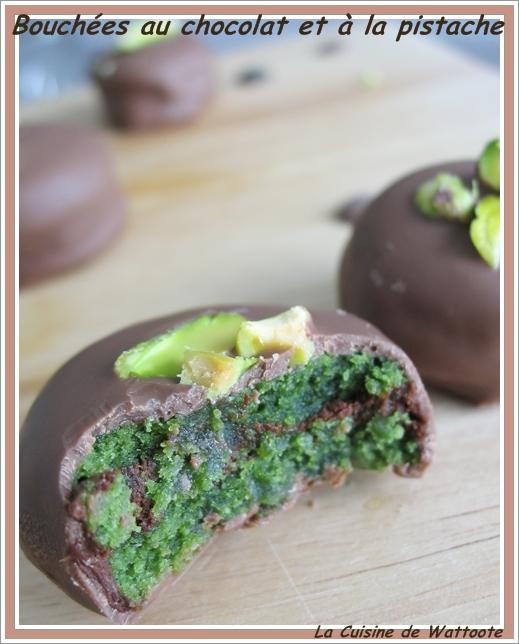 bouchées chocolat pistache