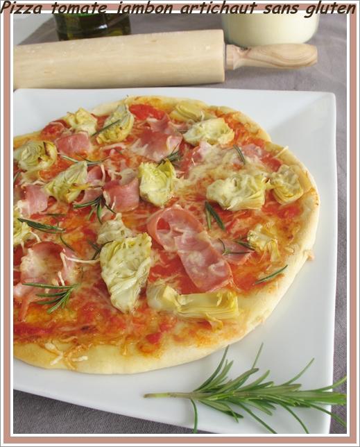 pizza jambon artichaud sans gluten