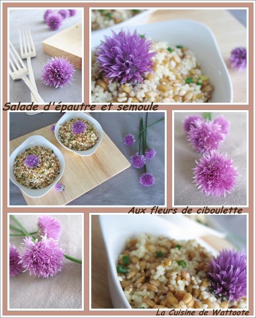 salade épautre semoule fleur ciboulette