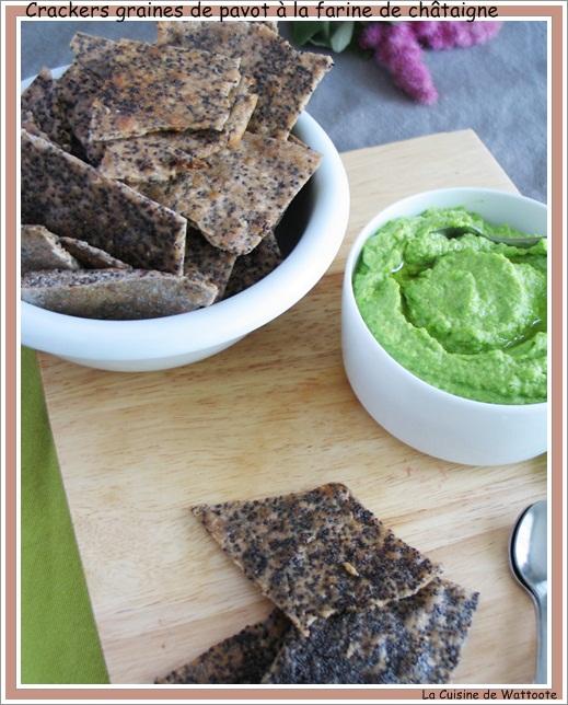 crackers graines pavot farine chataigne