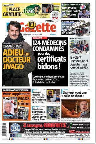La nouvelle gazette du 11-07-2015 Belgique