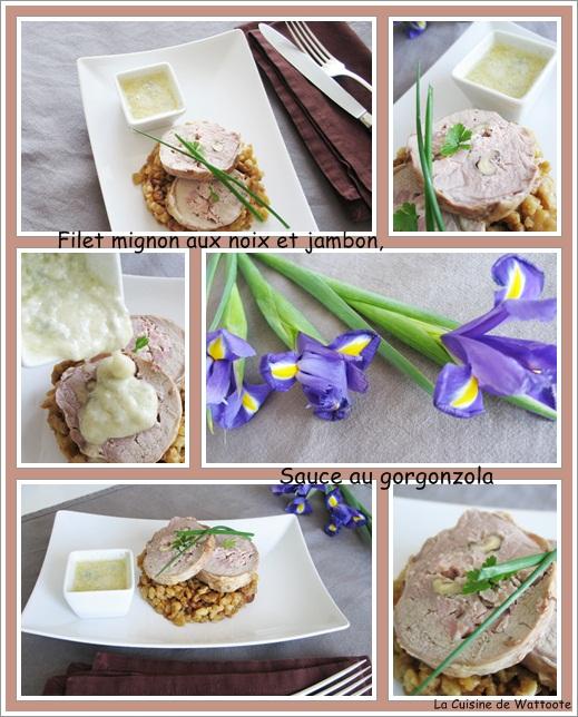 filet mignon noix jambon sauce gorgonzola