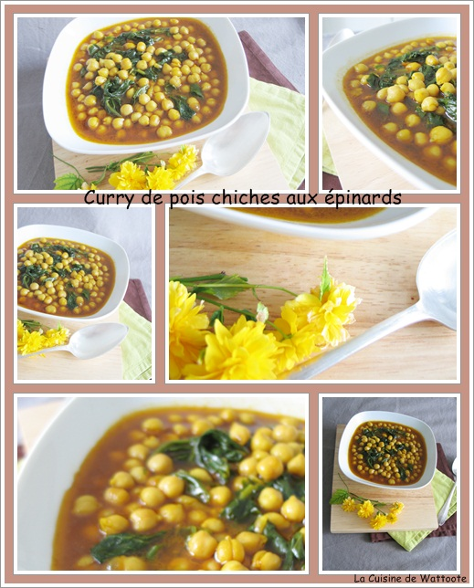 curry de pois chiches épinards