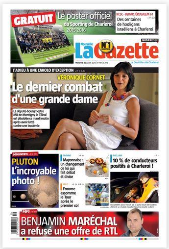 La nouvelle gazette du 15-07-2015 Belgique