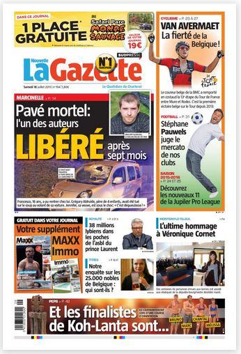 La nouvelle gazette du 18-07-2015 Belgique