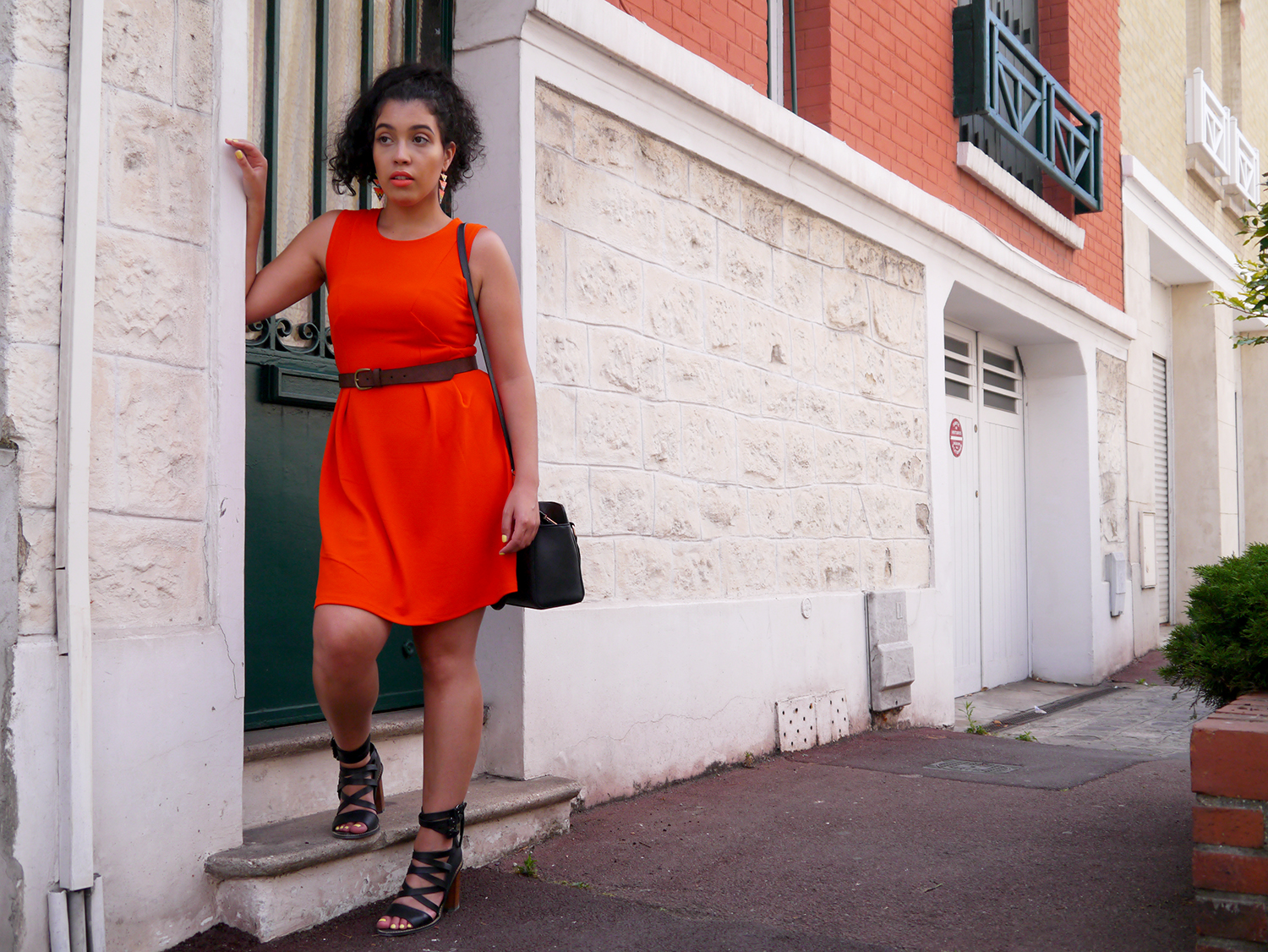 Pimkie orange dress and mango shoes the crime of fashion - Pimkie boutique paris ...