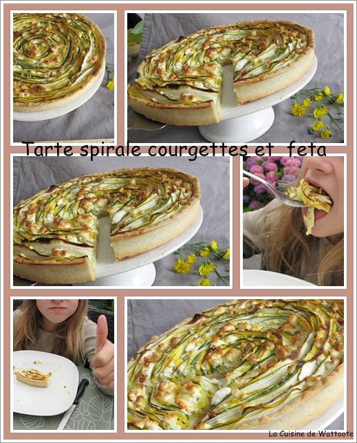 tarte spirale courgette feta