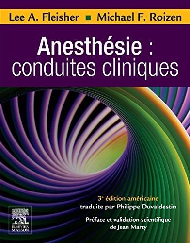 Anesthésie : conduites cliniques