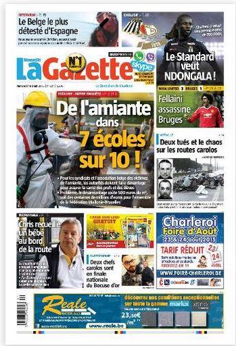 La nouvelle gazette du 19-08-2015 Belgique