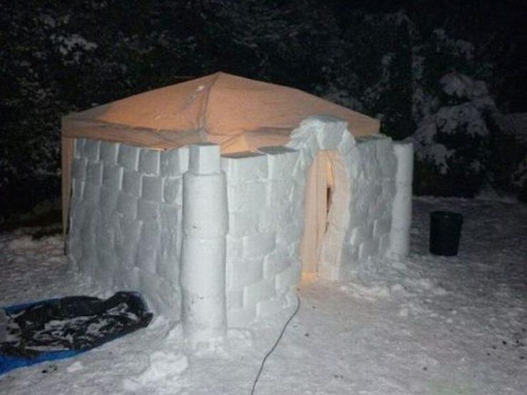 Śniegowe budowle 13