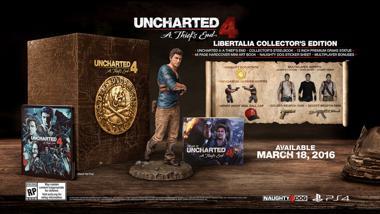 Uncharted 4 : 3 collectors au programme  150831083608678258