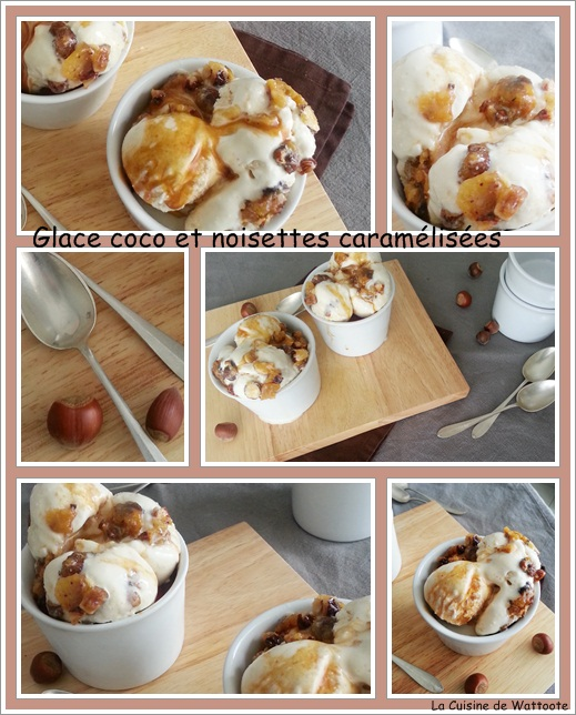 glace coco noisettes caramel