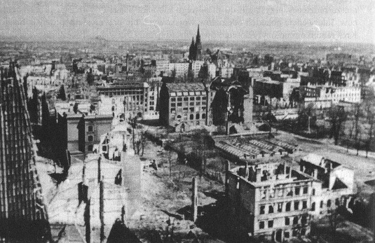 Wrocław  1945 Zniszczenia 16