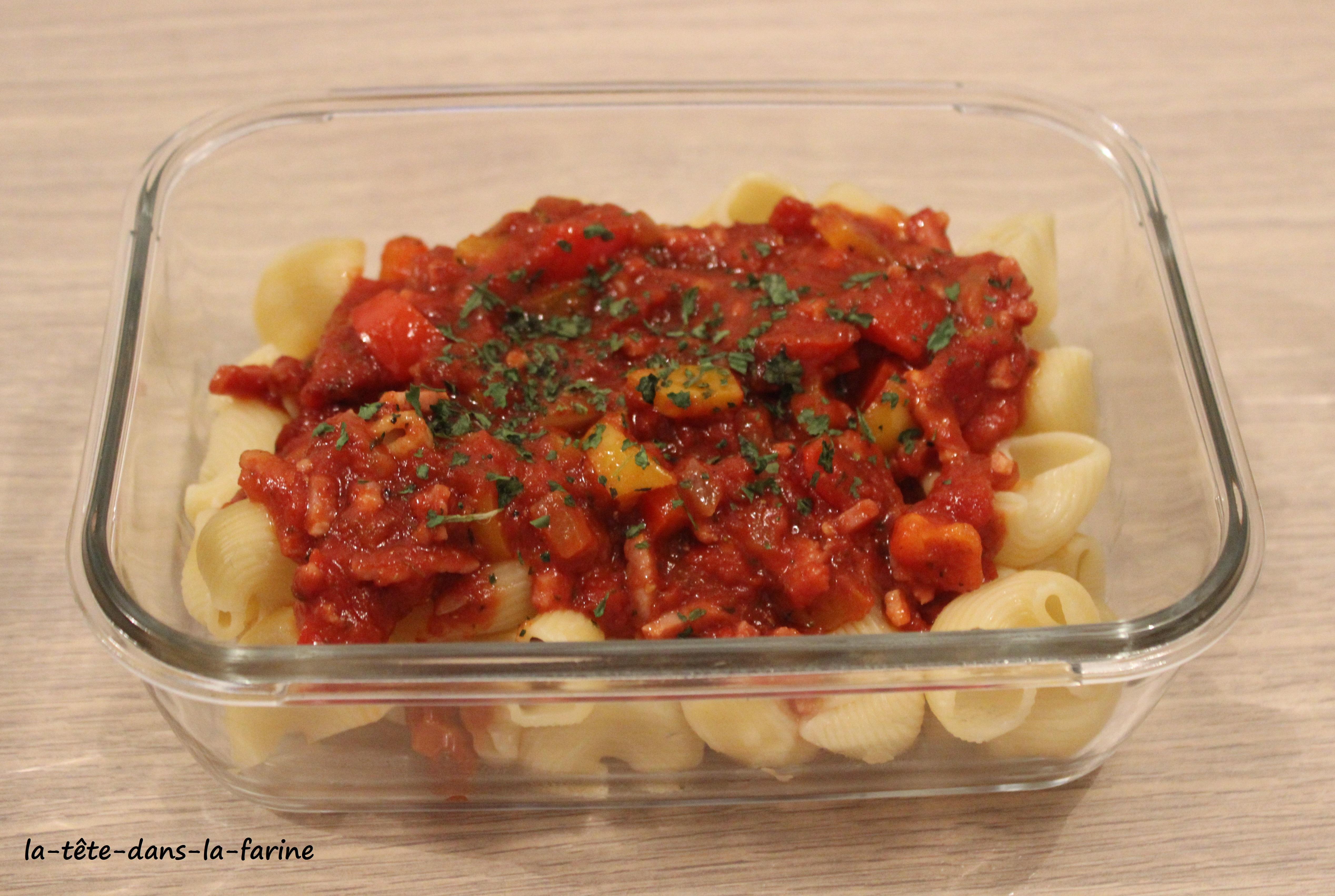 Sauce tomates poivrons