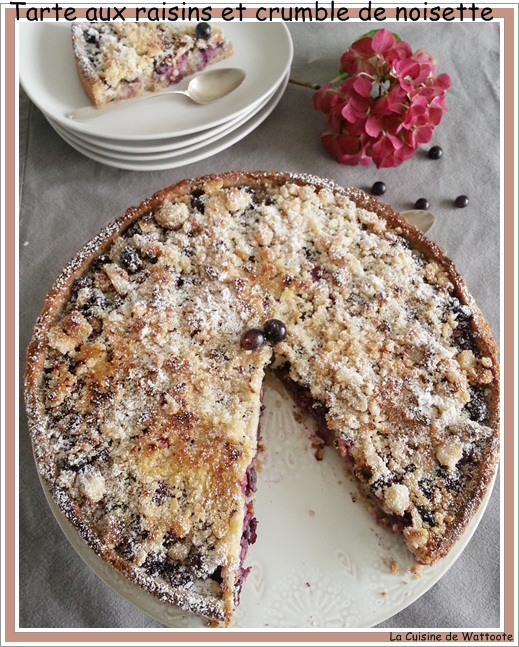 tarte raisin crumble
