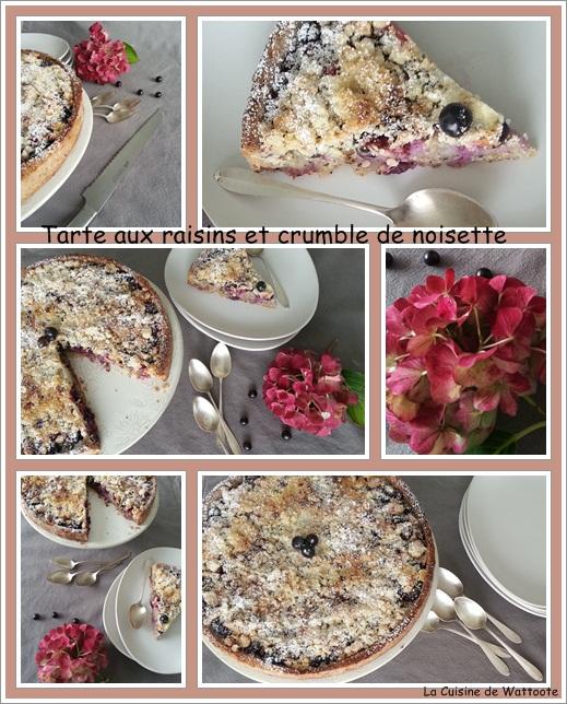 tarte raisin crumble
