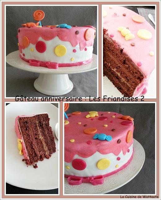 gâteau anniversaire friandises 2