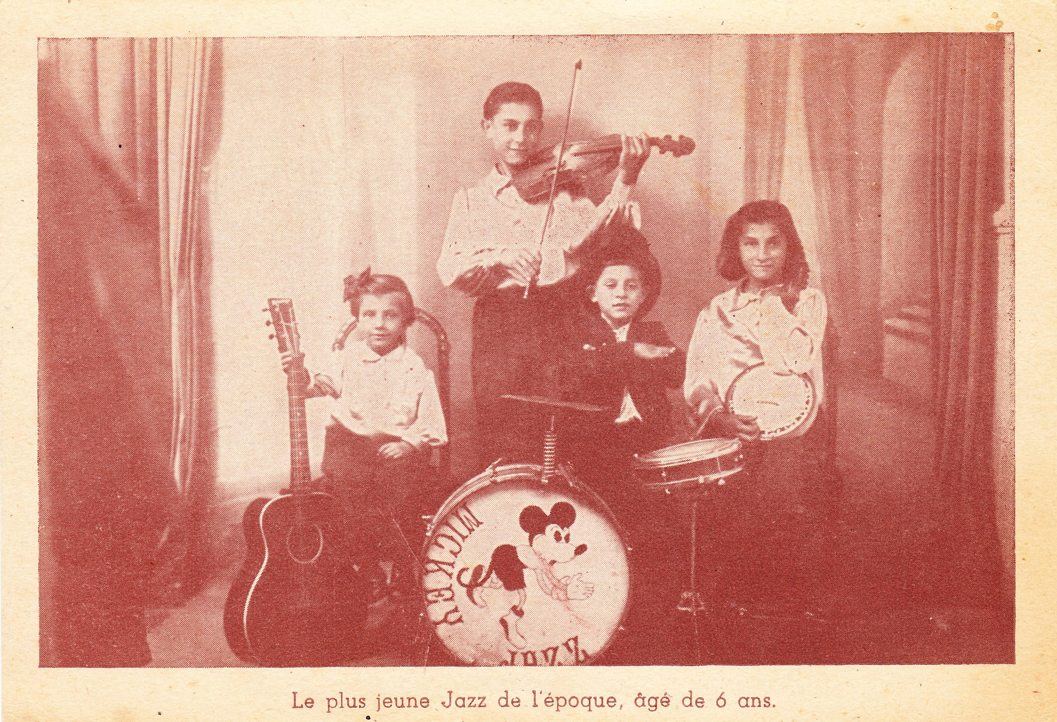 Mickey Jazz - le plus jeune de l'époque, agè de 6 ans