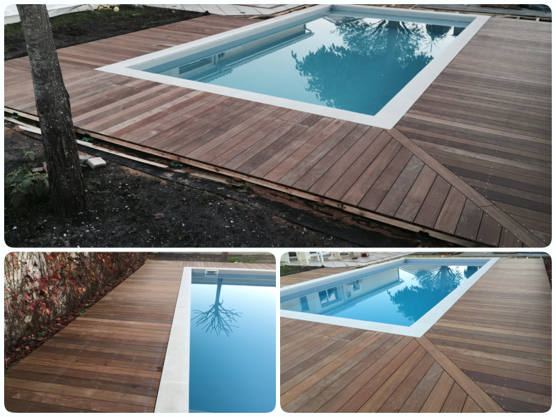 Piscine traditionelle 8x4 m poolhouse red cedar for Chauffage piscine 8x4