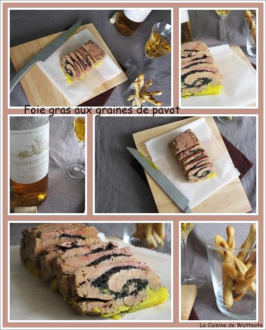 foie gras graines de pavot