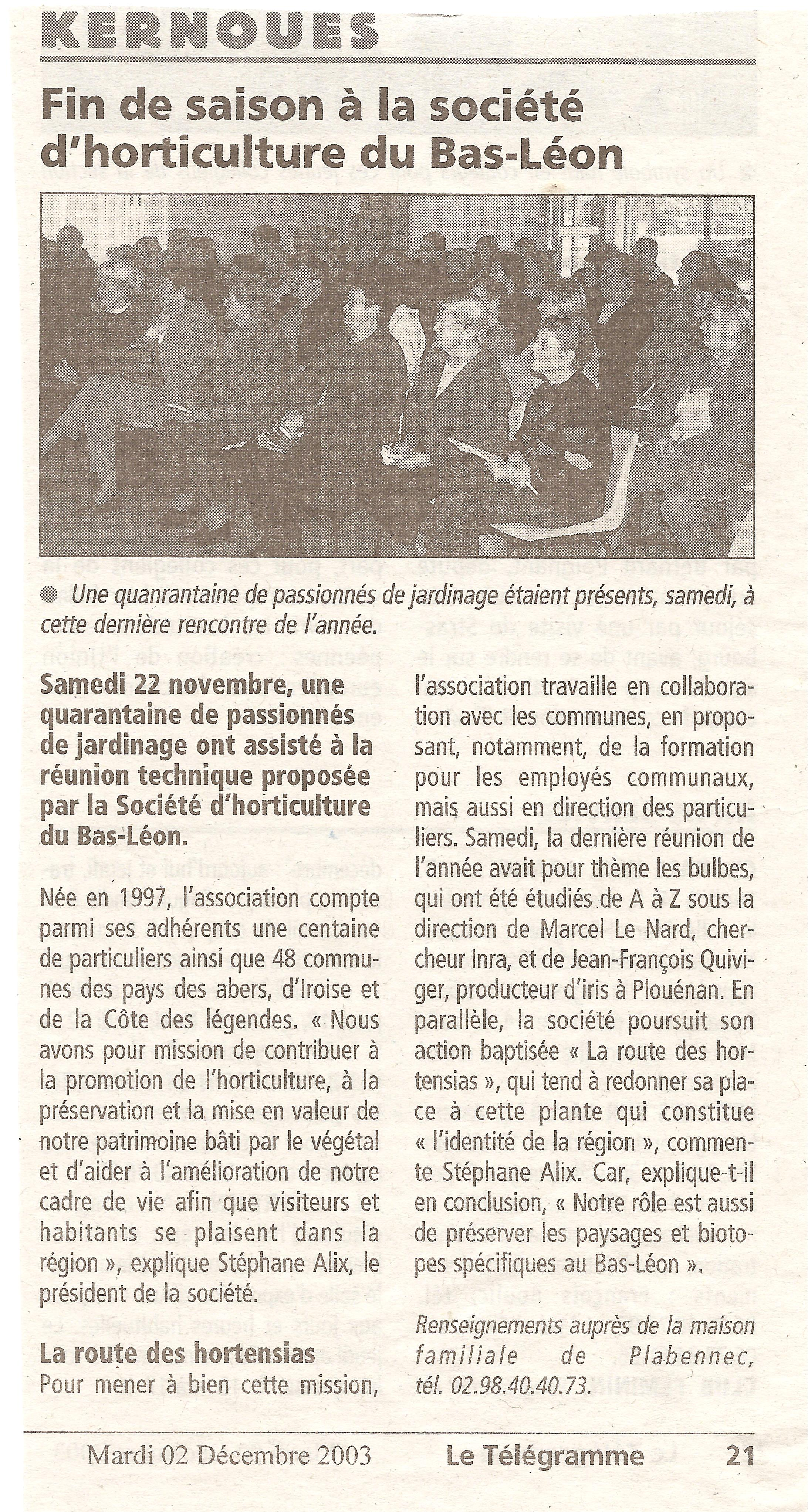 2003 12 02 le telegramme