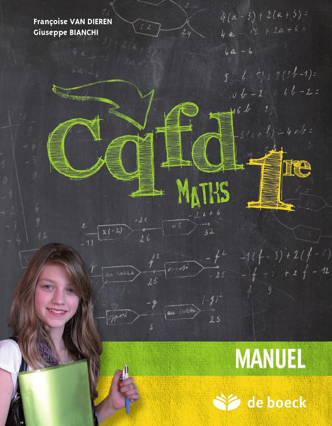CQFD Maths 1re ? Manuel