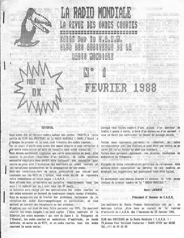 Les revues - Les clubs DX 151215093444428869