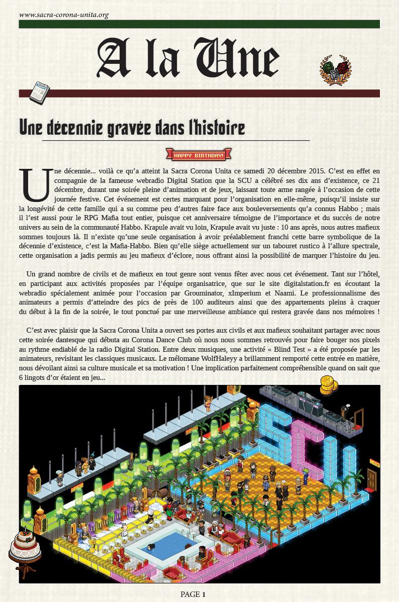 Il Corriere N°6 du 27 décembre 2015 15122705115667689