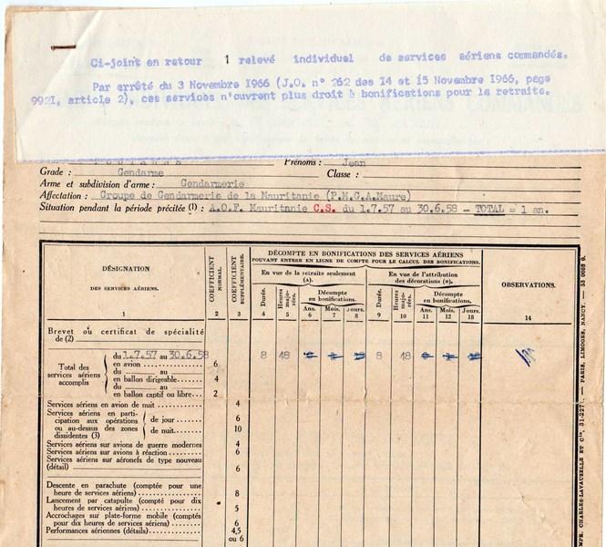 Petit aperçu d'un gendarme en A.O.F en 1957/58 151227070930897014