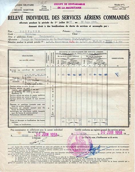 Petit aperçu d'un gendarme en A.O.F en 1957/58 151227070933545323