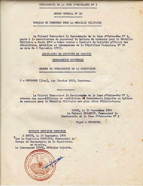 Petit aperçu d'un gendarme en A.O.F en 1957/58 151227070936745203