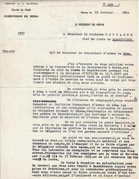 Petit aperçu d'un gendarme en A.O.F en 1957/58 151227070949504454