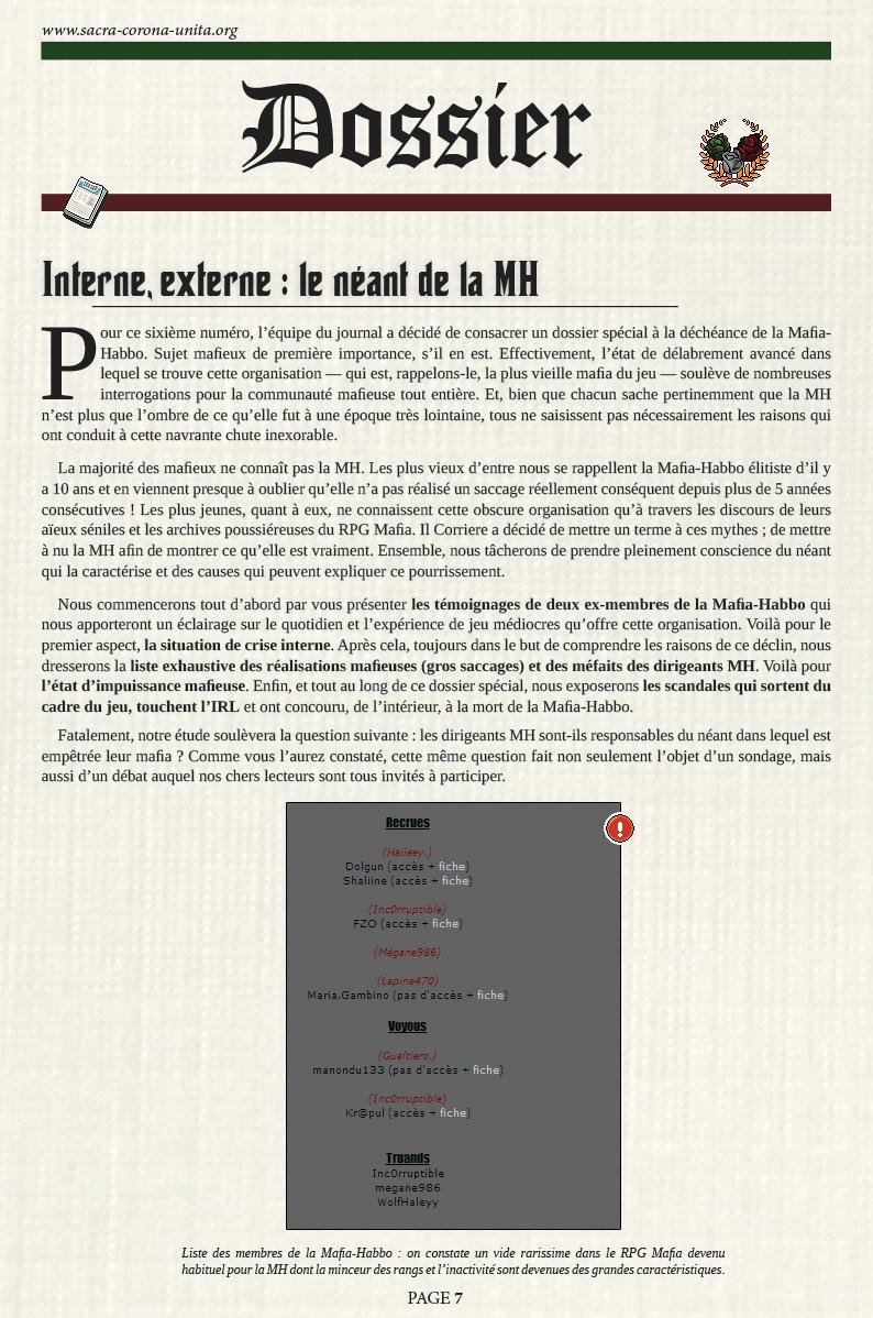Il Corriere N°6 du 27 décembre 2015 151227085906226976