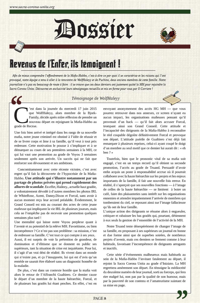 Il Corriere N°6 du 27 décembre 2015 151227093204854945
