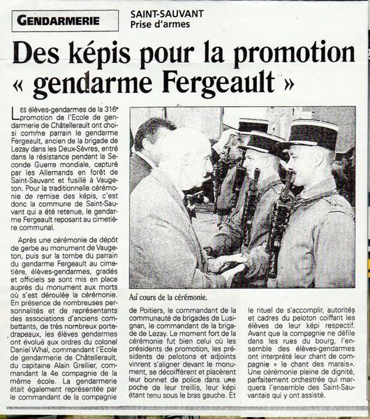 En l'honneur du Gendarme Paul Fergeault de Lezay (79120) 15122905582744017