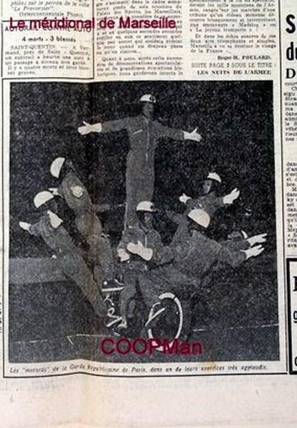 Création  des Premières acrobaties Motos en 1952 151231045923304041