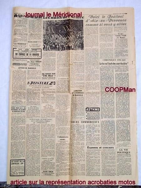 Création  des Premières acrobaties Motos en 1952 160102115702339423