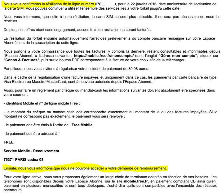 Univers Freebox Voir Le Sujet Free Mobile Refuse De Me Rembourser