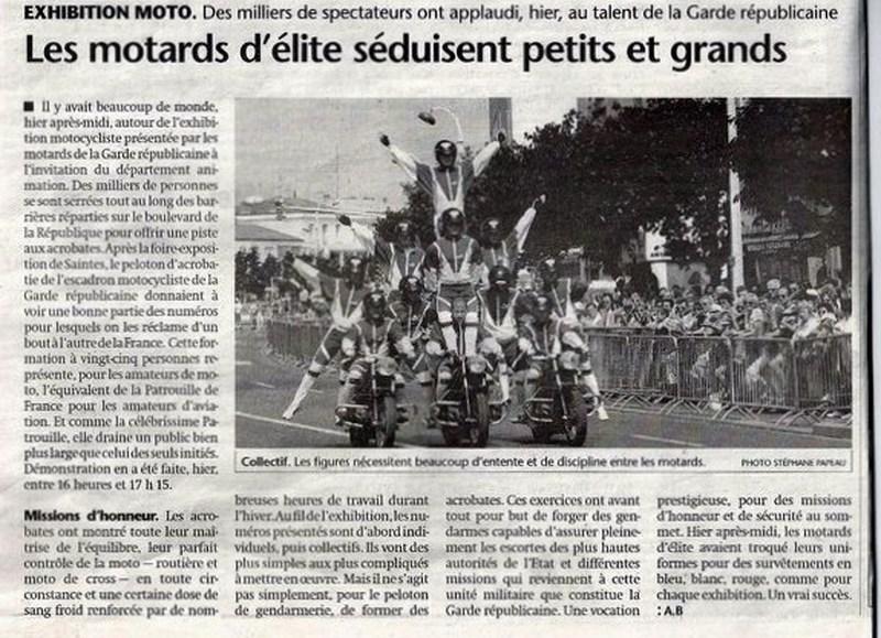 Création  des Premières acrobaties Motos en 1952 160107084810961511